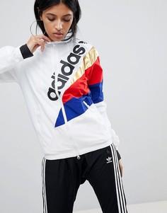 Белый спортивный топ adidas Originals Tribe - Белый