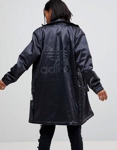 Черная длинная куртка Adidas Originals Adibreak - Черный