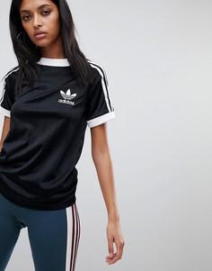 Черная футболка с тремя фирменными полосками adidas Originals - Черный