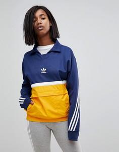Куртка колор блок adidas Originals Nova - Темно-синий