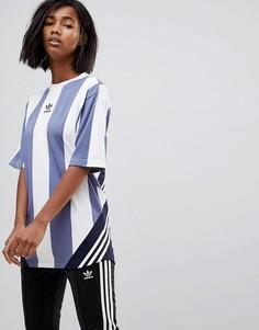 Сине-белая футболка Adidas Originals Nova Goalie - Синий