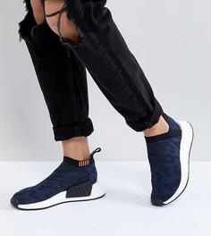 adidas Originals NMD Cs2 Shadow Knit Trainers In Navy - Темно-синий