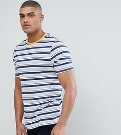 Свободная полосатая футболка в стиле ретро с вышивкой на груди ASOS TALL - Синий