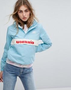 Спортивная куртка в стиле ретро с короткой молнией Umbro - Синий