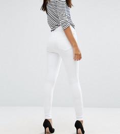 Белые джинсы скинни с завышенной талией ASOS TALL RIDLEY - Белый