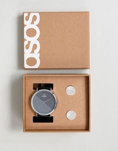 Подарочный набор с часами и запонками ASOS - Черный