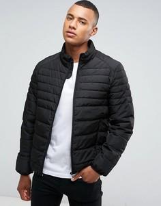 Черная дутая куртка Celio - Черный