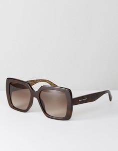 Большие черепаховые квадратные солнцезащитные очки Marc Jacobs 230/S - Черный