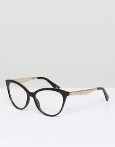 Очки кошачий глаз в черной оправе с прозрачными стеклами Marc Jacobs Cay - Черный