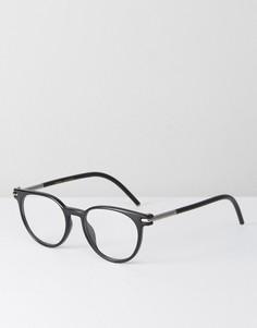 Черные круглые очки с прозрачными стеклами Marc Jacobs - Черный