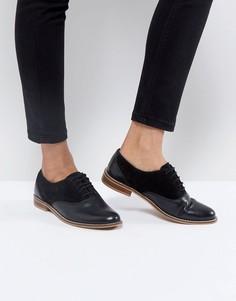 Кожаные туфли на плоской подошве ASOS MAKE UP - Черный