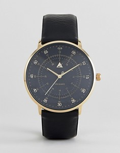 Часы с черным ремешком из искусственной кожи ASOS - Черный