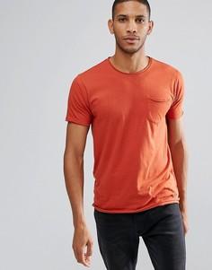 Базовая футболка с необработанными краями Brave Soul - Оранжевый