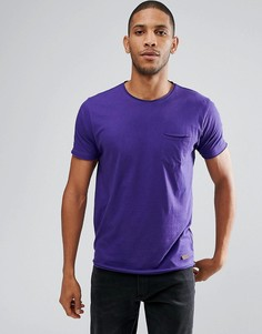 Базовая футболка с необработанными краями Brave Soul - Фиолетовый