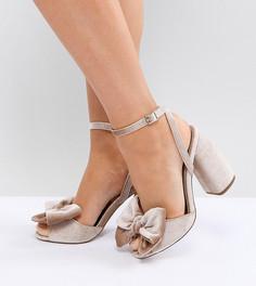 Босоножки для широкой стопы на каблуке ASOS HAMPTON - Розовый