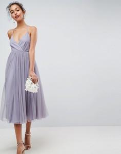Платье миди из тюля ASOS - Мульти