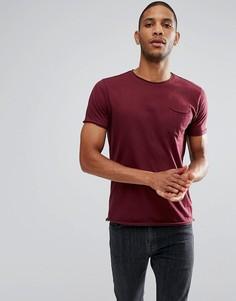 Базовая футболка с необработанными краями Brave Soul - Красный