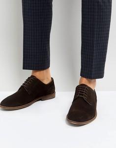 Коричневые замшевые ботинки на шнуровке ASOS - Коричневый