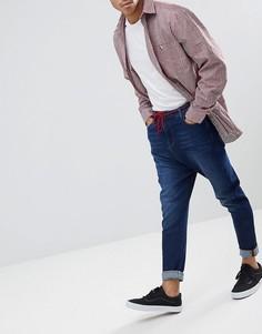 Темные джинсы заниженного кроя ASOS - Синий