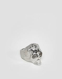 Кольцо с хромированным эффектом Mister - Серебряный