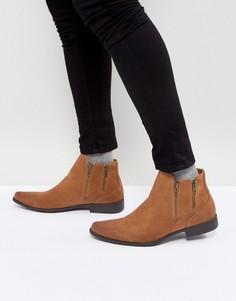 Ботинки челси светло-коричневого цвета из искусственной замши ASOS - Рыжий