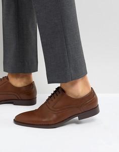 Светло-коричневые оксфордские туфли из искусственной кожи с тиснением ASOS - Рыжий