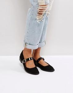 Туфли на плоской подошве ASOS MINT - Черный