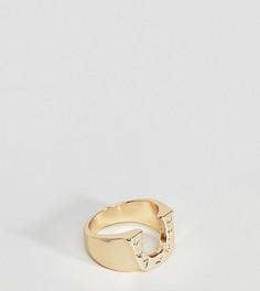 Золотистое кольцо с подковой ASOS PLUS - Золотой