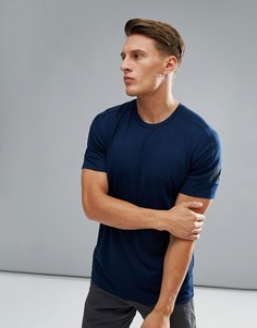 Темно-синяя футболка Adidas Athletics ID Stadium B47360 - Темно-синий