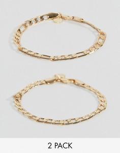 Набор из 2 золотистых браслетов Chained & Able Royal - Золотой