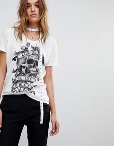 Оверсайз-футболка с отделкой Religion - Белый