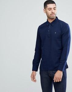 Синяя рубашка на пуговицах Farah Nolan Pop-Over - Синий