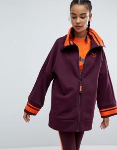 Бордовая трикотажная куртка с капюшоном Puma - Красный