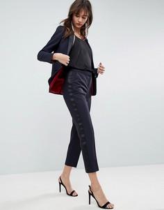 Зауженные брюки под смокинг ASOS Premium - Темно-синий