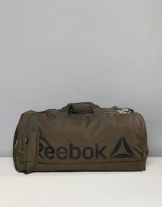 Спортивная сумка цвета хаки среднего размера Reebok CE0915 - Зеленый
