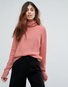 Блузка с высоким воротом Vero Moda - Розовый