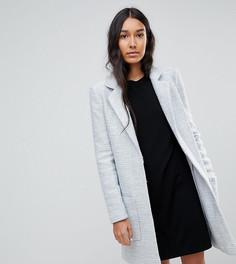 Фактурное пальто узкого кроя ASOS TALL - Серый