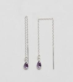 Серебряные серьги с камнями DesignB London - Серебряный