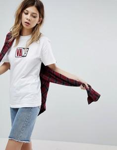 Белая оверсайз-футболка с логотипом Vans - Белый