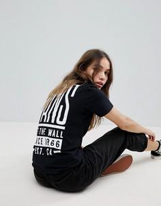 Оверсайз-футболка с принтом на спине Vans - Черный