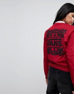 Красный лонгслив oversize от Vans - Красный