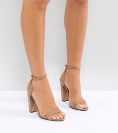 Легкие босоножки на каблуке ASOS HIGHBALL - Бежевый