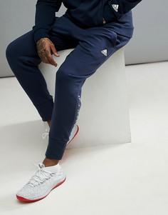 Темно-синие брюки adidas Basketball Dame CV7725 - Темно-синий