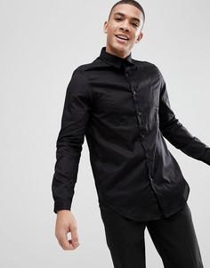 Черная удлиненная прозрачная рубашка классического кроя ASOS - Черный