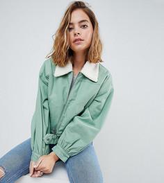 Куртка в стиле милитари с воротником борг ASOS PETITE - Зеленый