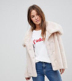 Куртка с воротником из искусственного меха ASOS PETITE - Розовый