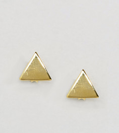Позолоченные треугольные серьги-гвоздики Kingsley Ryan - Золотой