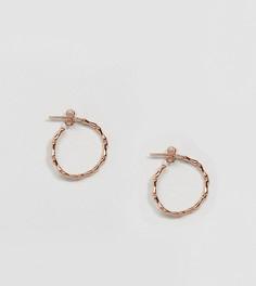 Серьги-кольца с покрытием из розового золота Kingsley Ryan - Золотой
