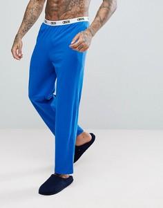 Трикотажные пижамные брюки с прямыми штанинами ASOS - Синий