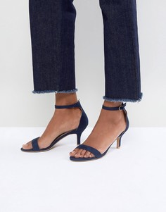 Темно-синие босоножки на каблуке-рюмочке Glamorous Barely There - Темно-синий